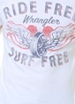 Wrangler Baskılı Tişört  Beyaz